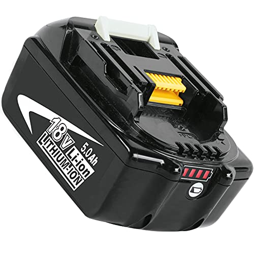 Kengdor BL1850B 18V 5000mAh / 5.0Ah Batería para BL1850 BL1860 BL1860B BL1820 BL1830 BL1840 BL1840B BL1845 BL1835 BL1815 LXT-400 con Batería LED Herramienta Eléctrica
