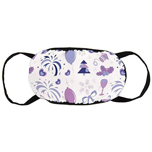 Stofvervuilingsmasker, paarse ballonnen, strikken en bloemen, zwart oor puur katoen masker, geschikt voor mannen en vrouwen maskers