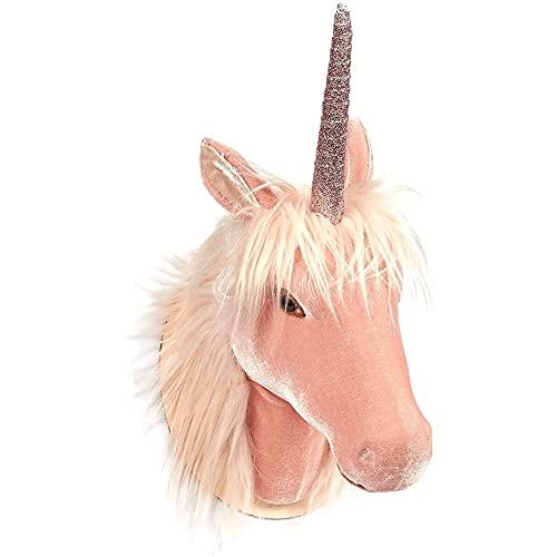 Juvale Unicorn Head Wall Mount - Wall Art Room Decor, Girls, Pink -...
