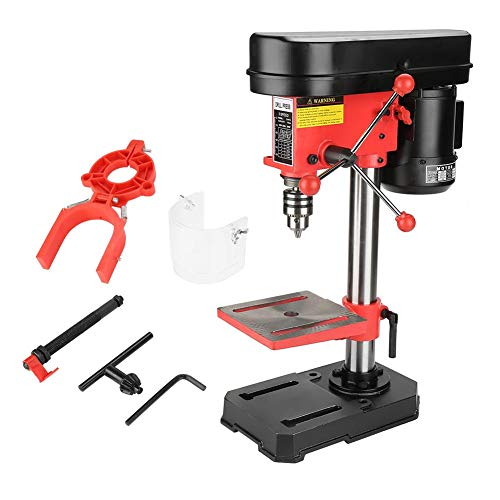 Great Deal! GOTOTOP 5 Speed Drill Press Stand Table,Variable Speed Drill Press Mini Bench Drill Pres...