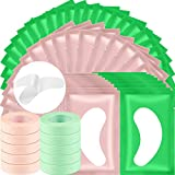 10 Rolls Eyelash Extension Eye Tape and 50 Pairs Eyelash Lash Extension Patches, Adhesive Eyelash Tape Green Pink Lash Tape Eyelashes Grafting Breathable Patch Under Eye Gel Pads for Lash Extension