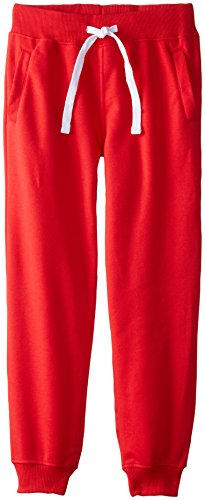 Southpole Boys' Big Active Basic Jogger Fleece Pants, Red, Large / 14-16