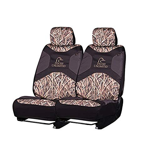 Ducks Unlimited Camo Seat Covers | Low Back | Shadow Grass Blades | 2 Pack