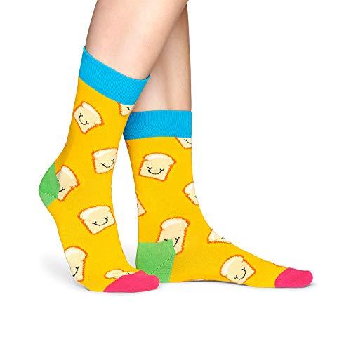 Happy Socks Toast Socks Unisex Freizeitsocken Größe 41-46