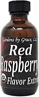 Organic Flavor Extract Raspberry | Use in Gourmet Snacks, Candy, Beverages, Baking, Ice Cream, Frosting, Syrup and More | GMO-Free, Vegan, Gluten-Free, 2 oz