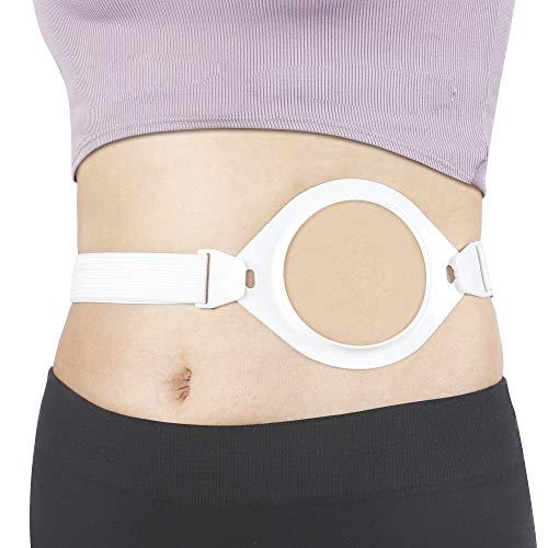 REAQER Elastischer Stomagürtel Stoma Fixierung für für festsitzende Stomabeutel 1-teilige und 2-teilige Versorgung (Taille27.5