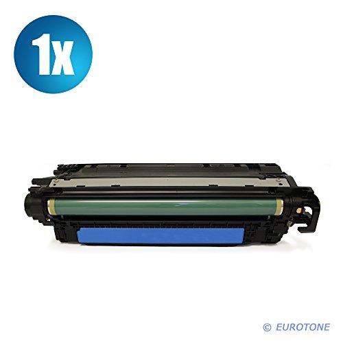 Eurotone kompatibler MARKENTONER für Color Laserjet CM-3530, CP-3525 Patronen ersetzen HP 504A Blaue CE251A Patronen Original EUROTONE (ISO-Norm 19798)
