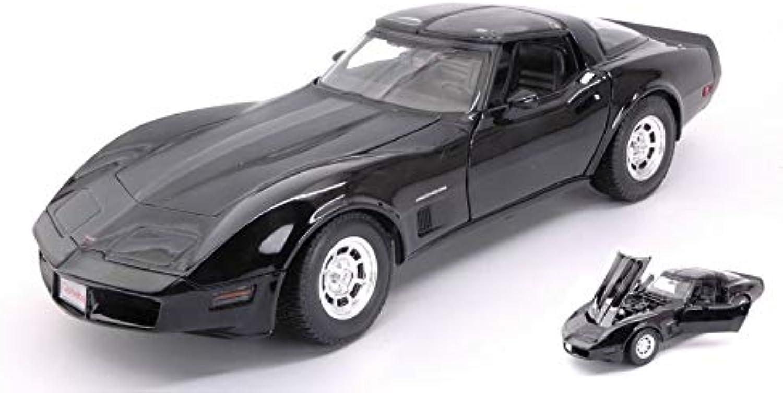 CHEVROLET CORVETTE COUPE' 1982 nero 1 18 - Welly - Auto Stradali - Die Cast - modellolino