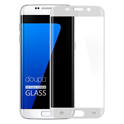 doupi FullCover Pellicola Protettiva per Samsung Galaxy S7 Edge, Premium 9H HD Protettiva Protezione dello Schermo Tempered Glass, Bianco