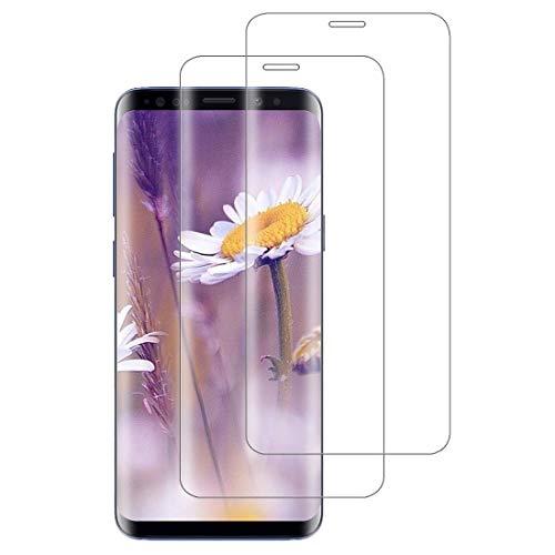 XSWO Verre Trempé Galaxy S9, Vitre Protection Samsung S9 [3D Couverture Complète] [Haute Sensibilité] [Anti Rayures] [sans Bulles] [2 Pièces] Film Protection d'écran Samsung Galaxy S9