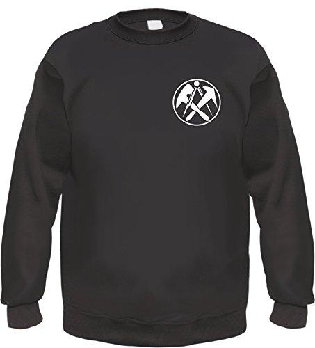 HB_Druck Dachdecker Sweatshirt M Schwarz