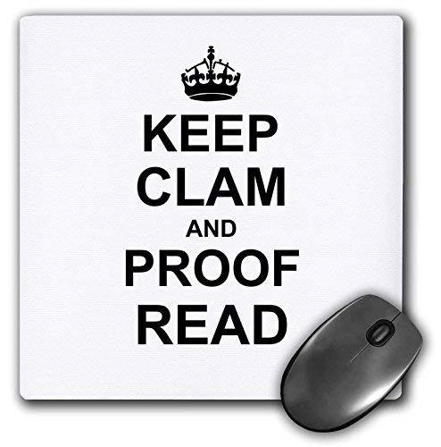 Gaming Mouse Pad für Notepad Halten Sie Muschel und Proof Lesen Sie lustige Korrekturleser Reader Writer Editor Geschenke rutschfeste Gummi School Desk Decor Mouse Pad für Laptop