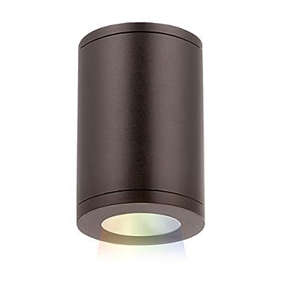 "WAC Lighting DS-CD05-S-CC-BZ ilumenight Tube Architectural 5"" LED Color Changing Flush Mount Spot Beam, 15 Degrees, Bronze"