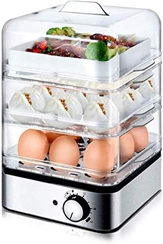 WHSS Caldera de huevos, olla de huevo, sincronización automática, olla de huevos multifunción de tres capas al vapor cocina herramienta de cocina (color : padre)