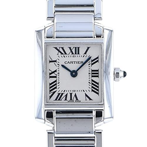 カルティエ Cartier タンク フランセーズ SM W50012S3 シルバー文字盤 中古 腕時計 レディース (W179293) [並行輸入品]
