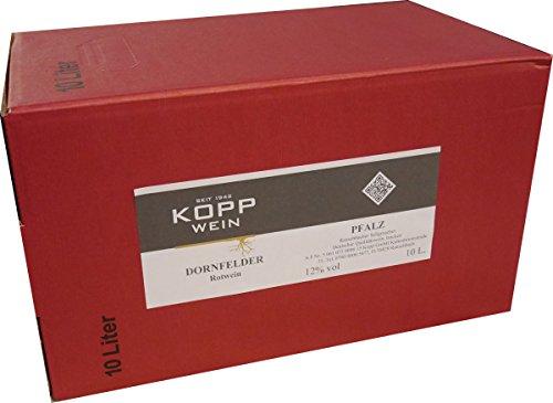 10L. edler Dornfelder Rotwein trocken in Box, ideal zum Campen, Segeln, oder für Feiern