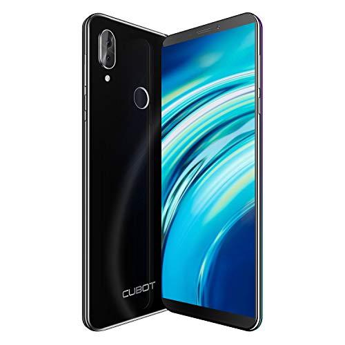 CUBOT X19S Smartphone ohne Vertrag, 4GB RAM/32G, 5.93 Zoll FHD Display, 4000mAh Akku, 2 Kamera, 128 GB Erweiterbar, Dual SIM, Android 9, Face-ID, Fingerabdruckleser, Schwarz