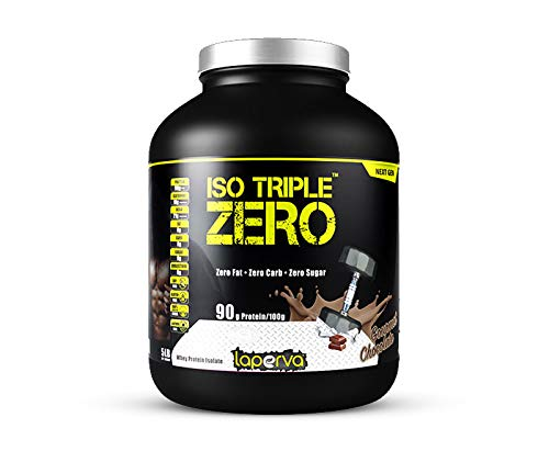 Laperva ISO Triple Zero Next Generation Premium Whey Protein Isolate Zero Carb, Zero Fat, Zero Sugar whey Protein Powder for Weight Loss and Muscle gain (Chocolate)