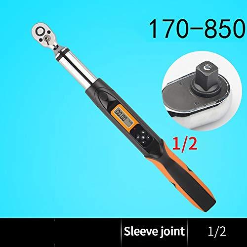FenNGG momentsleutel, 1/2, digitale ratelsleutel, 170 – 850 Nm, draaimomentconverter, drie bedrijfsmodi, met waarschuwingssignaal en controlelampje