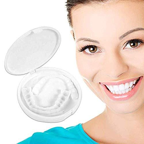 JSFC Provisorischer Zahnersatz Veneers Obere Und Untere Zähne Simulierte Zahnersatzspangen Perfektes Lächeln in Minuten
