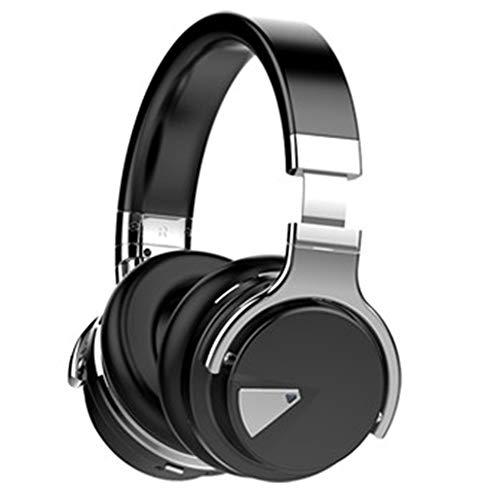 WSGLZ Drahtlose Kopfhörer, Bluetooth 4.1 Mikrofon, Wireless PC 0 Noise-Cancelling, Auf Ohr, Handy, Callcenter, Stereo-Kopfhörer,Schwarz