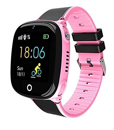 Smartwatch Kinder Telefonuhr, Intelligente Uhr mit LBS Tracker SOS Handy Touchscreen, IP67 Wasserdicht Voice Chat Kamera Wecker Digitale Armbanduhr, für Jungen Mädchen Geschenk (?)