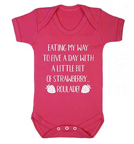 Flox Creative Gilet pour bébé Five a Day Strawberry Roulade - Rose - XS
