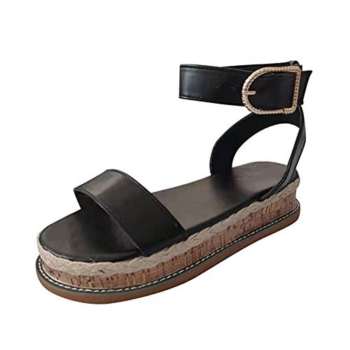 Qiuday Pantoffeln Damen Sandalen Slippers Schuhe Bequeme Orthopädische Pantolette Hausschuhe rutschfest Leopardenmuster Schlangenmuster Sandaletten fußbett Sandalen Slingback Open Toe Schuhe