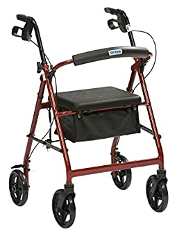 """Very lightweight at less than 7 kg Height adjustable: 33"""" to 38"""" Anatomic handgrips Arthritic friendly loop cable brakes Padded flip-up seat"""