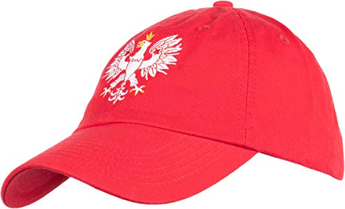 Poland Pride | Vintage Style, Retro Polish Eagle Polska Low Baseball Cap Dad Hat Red