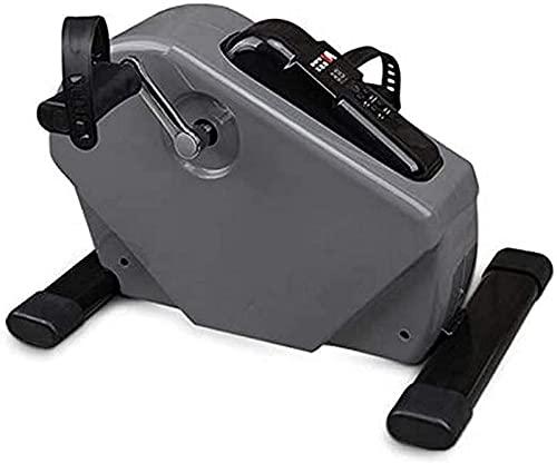 NBLD Monitor y Resistencia Ajustable para piernas y Brazos Ejercicio Antideslizante en casa y Oficina Bicicleta estática Pedal de Ciclo magnético Ejercitador Debajo de la Mesa con LCD
