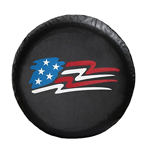 Moonet Universal Spare Wheel Tire Cover R15 Fit All Car With American Flag logo