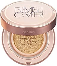 Hanskin Blemish Cover Conceal Cushion, Full Coverage Semi Matte Cushion Foundation Case SPF 50 +, Lightweight Flawless Brightening Corrects Redness [No. 23 Beige/Semi Matte / 0.38 oz x 2 Refills]