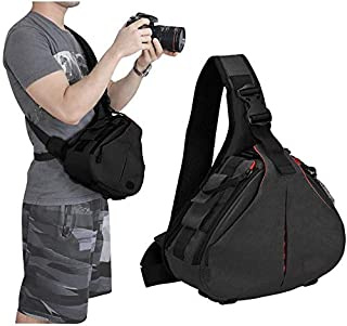 KH Camera Bag Sling Backpack Camera Case Waterproof with Rain Cover Tripod Holder, Compatible for DSLR/SLR Mirrorless Came...