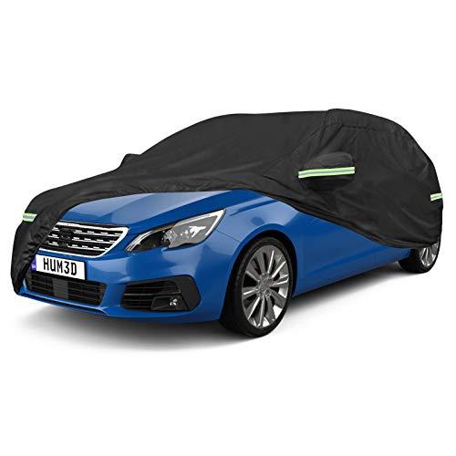NEVERLAND Talla XXL Universal Funda para Coche Auto en 420D Oxford Impermeable Anti- UV Negro 530x200x150CM