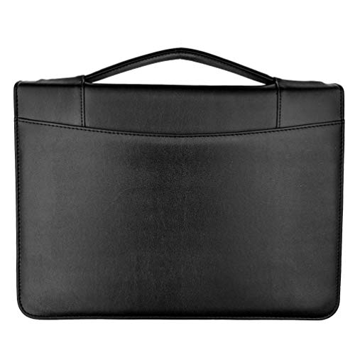 (2019) New Improved- MSP Sale Presentation Briefcase | Portfolio with Binder Pockets, Retractable Handle, Zipper Closure, for Professional and Interview Resume Holder