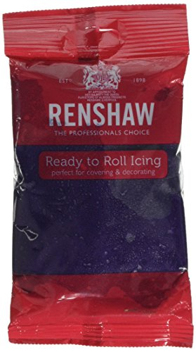 Renshaw Ready to Roll Coloured Icing - 250g Purpl