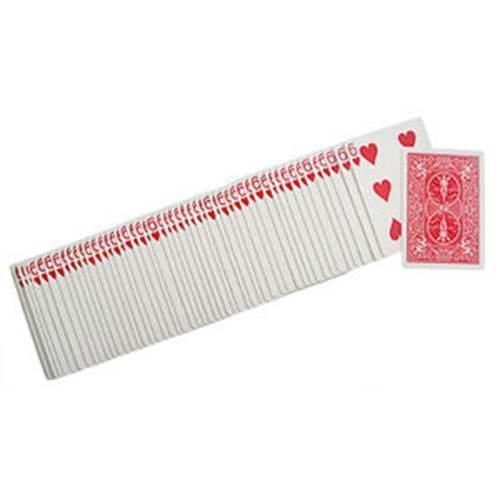 SOLOMAGIA Spielkarten Bicycle Gaff Cards - Spielkarten sind alle gleich - Rückseite rot - Gaff Kartenspiel - Zaubertricks und Magie