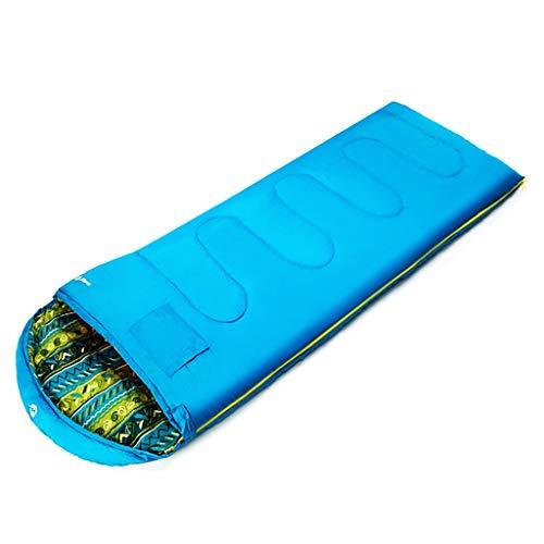 CATRP-Sac de couchage en Coton pour Adultes Épaissir en intérieur Garder au Chaud Le Sac de Couchage Hivernal pour Camping en Plein air, 2 Couleurs, 4 Types de Poids (Color : Blue, Size : 2kg)