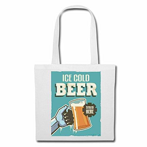 Tasche Umhängetasche Ice COOL Beer EIS KALTES Bier WEIZENBIER PILZ HEFEWEIZEN BIERGLAS Bierkrug Party JUNGGESELLENABSCHIED Bier Wodka Schnaps Wein Alkohol Rotwein WEIßWEIN LIKÖR Einkaufstasche Schu