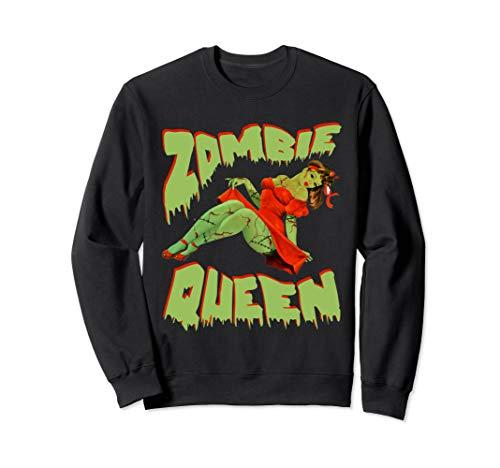 Zombie Pin Up Girl Halloween Queen Cute Costume Apocalypse Sweatshirt