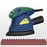 Rumia Levigatrice Mouse 13000 RPM, Levigatrice Elettrica con 20 pcs Carte Abrasive, Adattatore per Aspirazione Polvere, Classica Levigatrice, Impugnatura Confortevole, Cavo 3 Metri