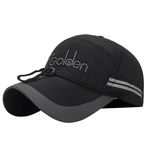 Hat, Reflective Running Cap A Quick Dry Hat for Men The Flashback 360 Sports Cap, Clothing Shoes & Accessories (Black Free Size)