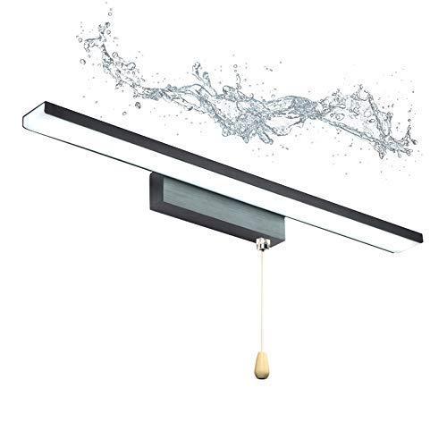Luz LED para Espejo de tocador de baño con iluminación de gabinete de Interruptor Luces de Espejo de Maquillaje Iluminación Frontal de Espejo Regulable Lámparas de Pared de baño para Lavado