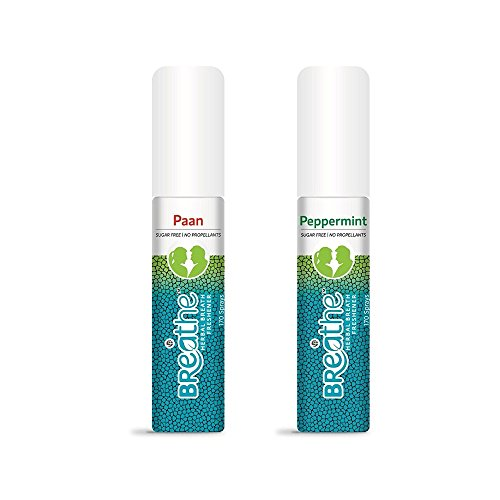 Breathe Mouth Freshener Spray Combo of Paan & Peppermint