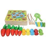 Jeu magnétique, jeu de jouet de pêche sûr, vision non toxique pour l'émotion(Happy farm game, Magnetic fishing)