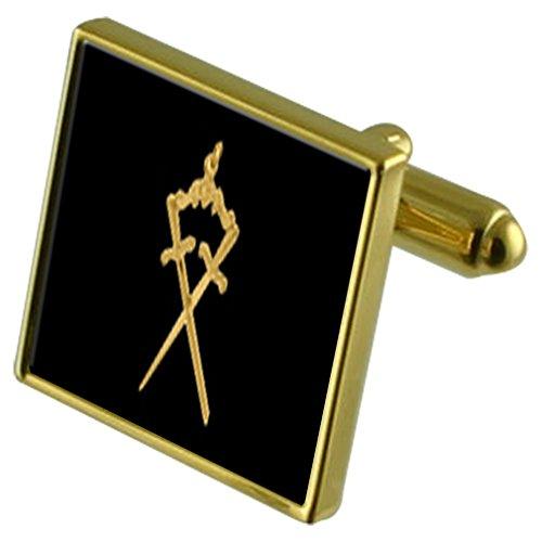 Select Gifts Manchette en tartan Black Watch cas personnalisé gravé