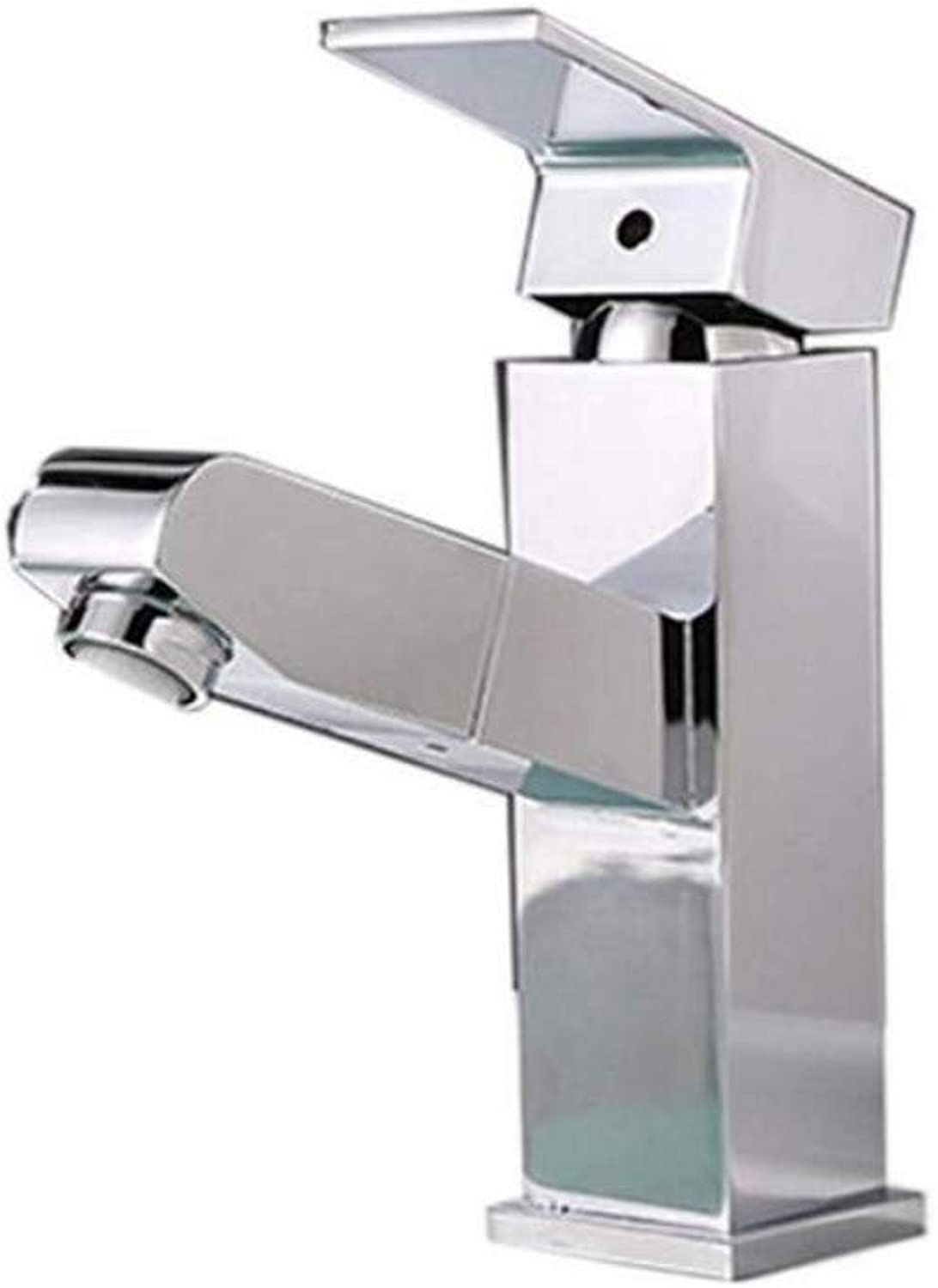 Taps Kitchen Sinkbathroom Square Shape Pull Out Basin Faucet Brass Chrome Sink Mixer