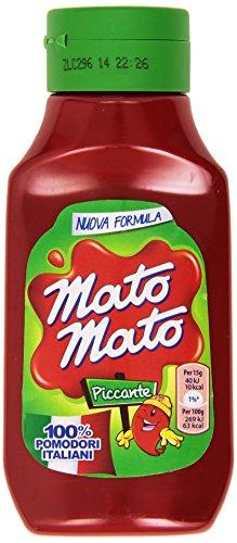 Mato Mato - Ketchup piccante, 100% pomodori italiani - 390 g