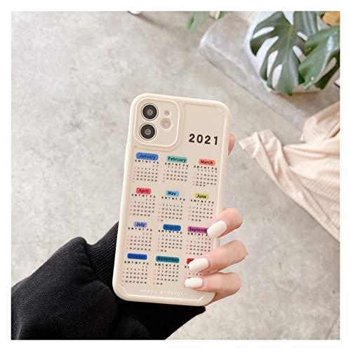 YLFC Funda De Teléfono con Calendario De Pared Retro Funda De Teléfono Japonesa para iPhone 12 11 Pro MAX XR XS MAX 7 8 Plus 7Plus (Color : 01, Size : For iPhone 7)